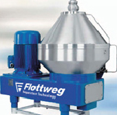 disc centrifuge biodiesel bioethanol flottweg clarifier separator purifier oil suspensions