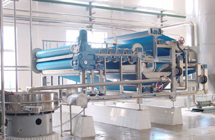 flottweg belt press for fruit pulp dewatering