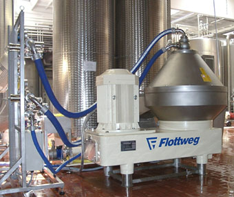 flottweg biodiesel glycerine disc centrifuge olive oil clarifier bevarage production